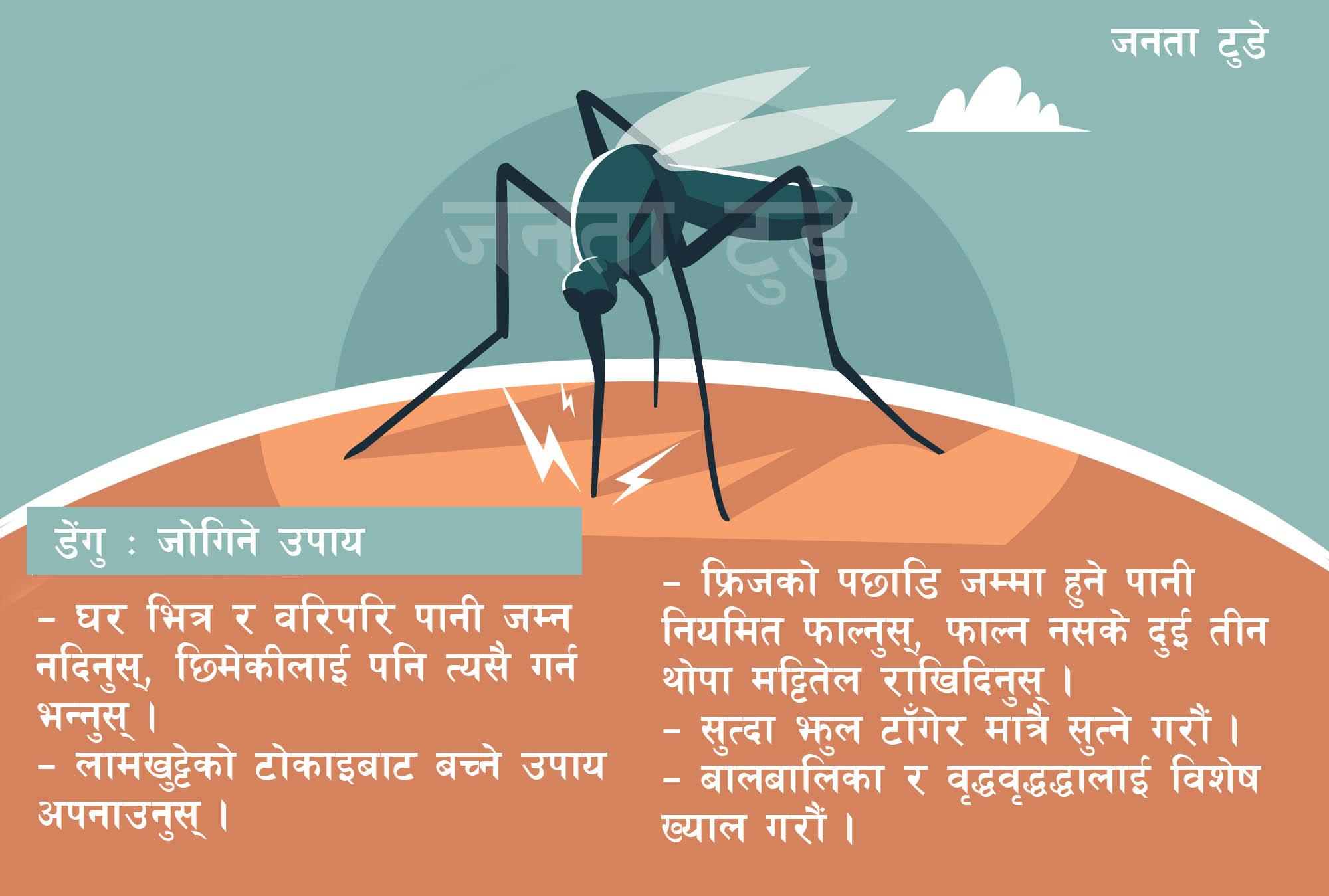 डेंगु रोगबारे नागरिकलाई सूचना प्रवाह गर्न सरकारलाई सूचना आयोगको आदेश