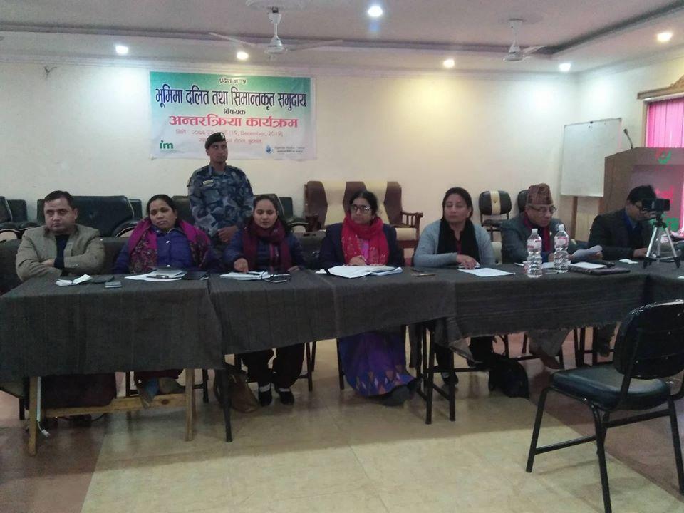 प्रदेशका दलित र सिमान्तकृत समुदाय भूमिहिन हुदैनन :  मन्त्री  पौडेल