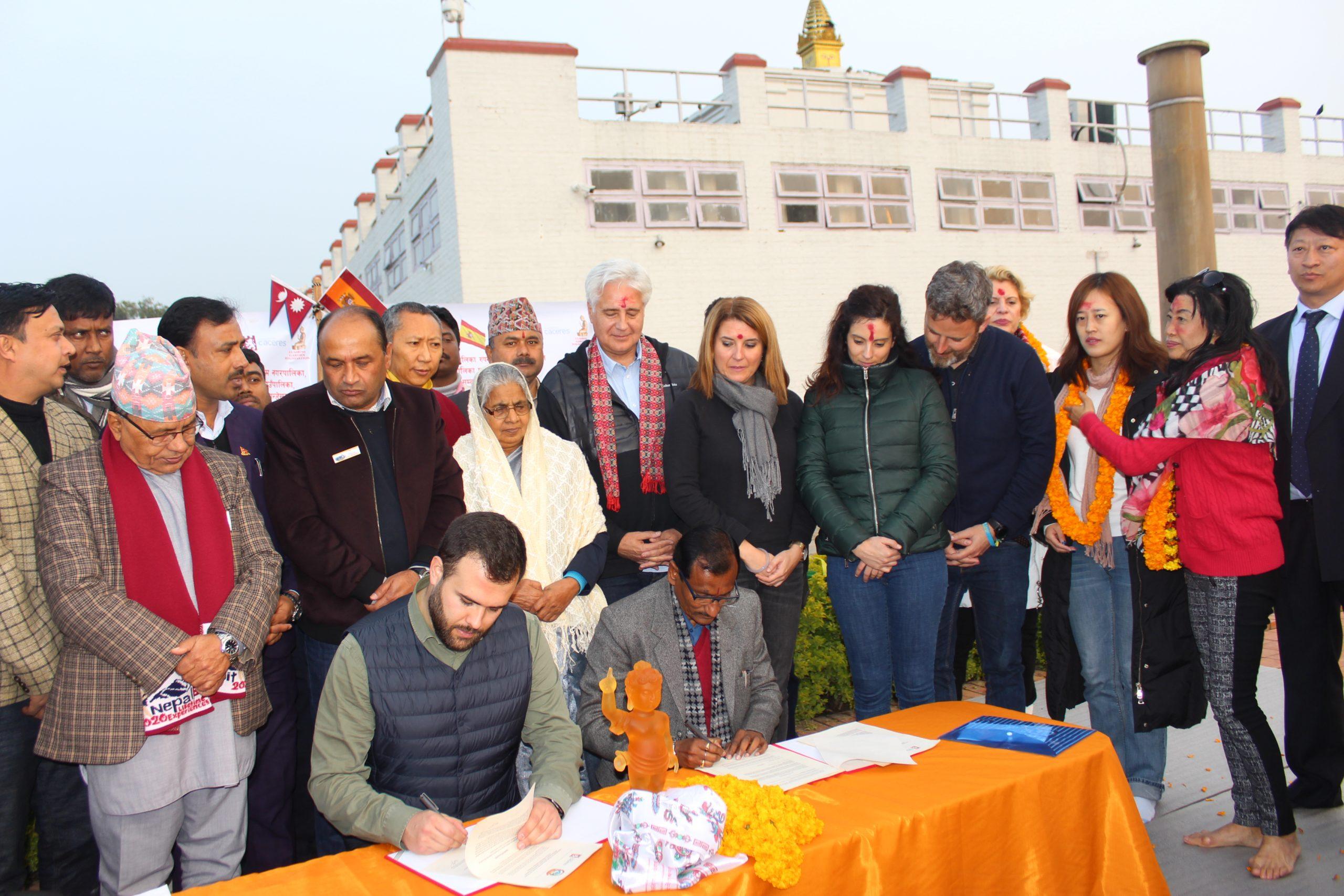 लुम्बिनी र स्पेनको काथेरेस नगरबिच भगिनी सम्बन्ध बिस्तार