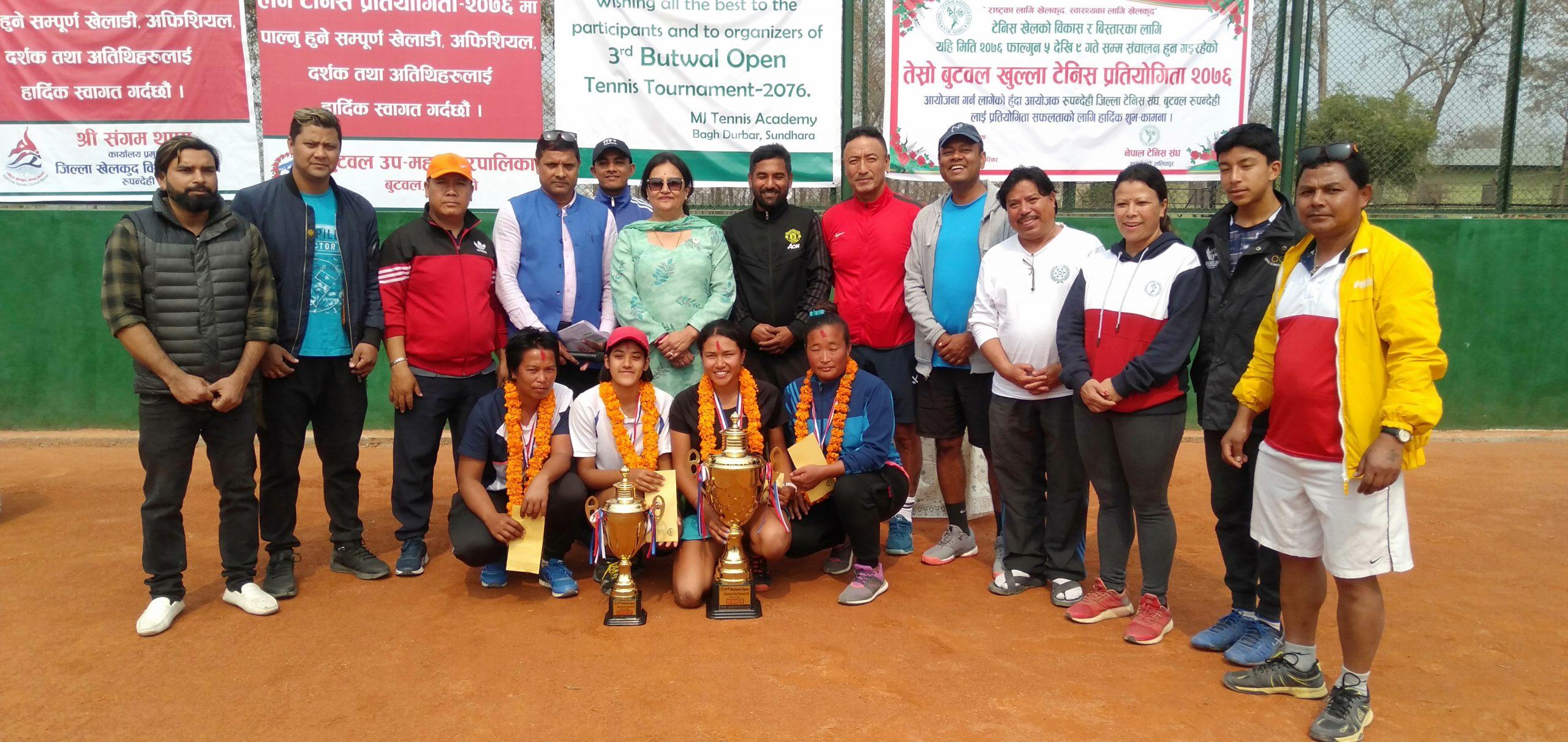 तेस्रो बुटवल खुल्ला लन टेनिस प्रतियोगिता जारी